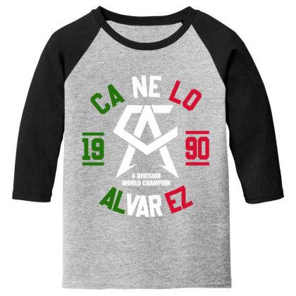 Team Canelo Mexico Alvarez Youth 3/4 Sleeve Designed By Elasting