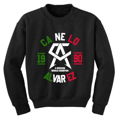 Team Canelo Mexico Alvarez Youth Sweatshirt Designed By Elasting
