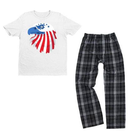 United States Eagle Youth T-shirt Pajama Set Designed By Chiks