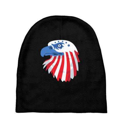 United States Eagle Baby Beanies Designed By Chiks