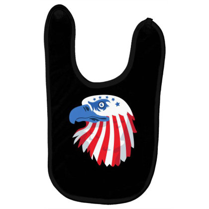 United States Eagle Baby Bibs Designed By Chiks