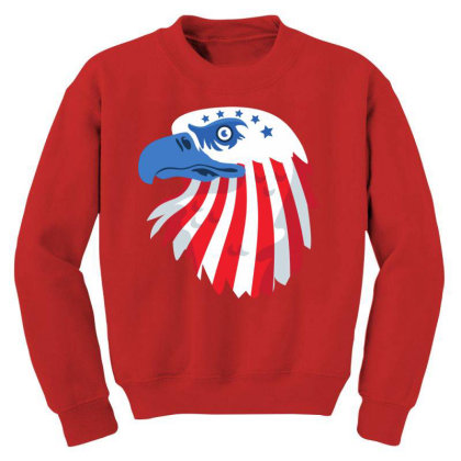 United States Eagle Youth Sweatshirt Designed By Chiks