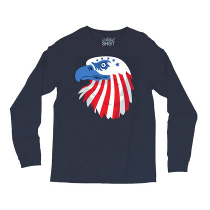 United States Eagle Long Sleeve Shirts Designed By Chiks
