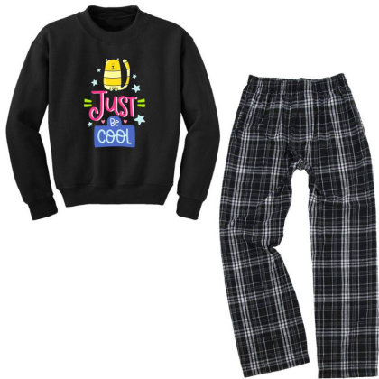 Just Be Cool Youth Sweatshirt Pajama Set Designed By Gnuh79