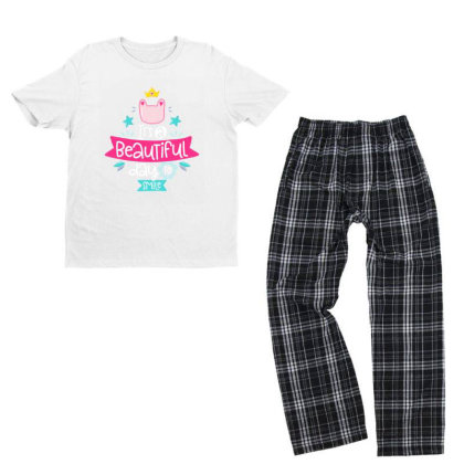 It's A Beautiful Day To Smile Youth T-shirt Pajama Set Designed By Gnuh79