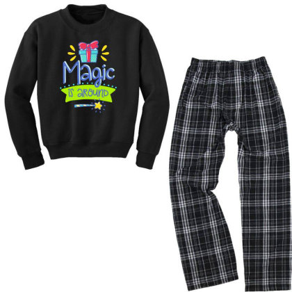 Magic Is Around Youth Sweatshirt Pajama Set Designed By Gnuh79