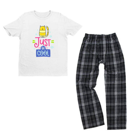Just Be Cool Youth T-shirt Pajama Set Designed By Gnuh79