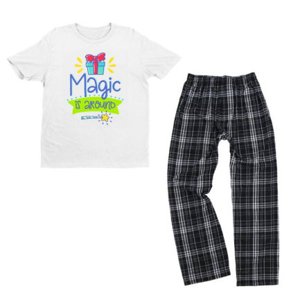Magic Is Around Youth T-shirt Pajama Set Designed By Gnuh79