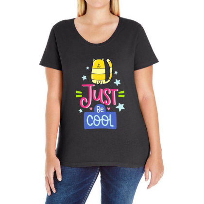 Just Be Cool Ladies Curvy T-shirt Designed By Gnuh79