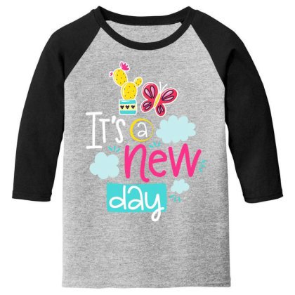 It's A New Day Youth 3/4 Sleeve Designed By Gnuh79
