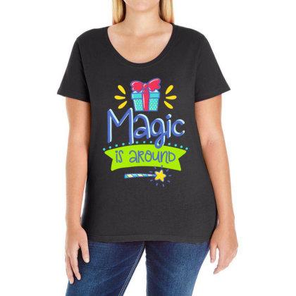 Magic Is Around Ladies Curvy T-shirt Designed By Gnuh79