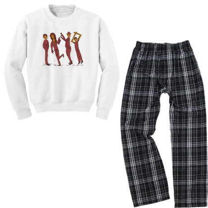Dancing People Youth Sweatshirt Pajama Set Designed By Chiks