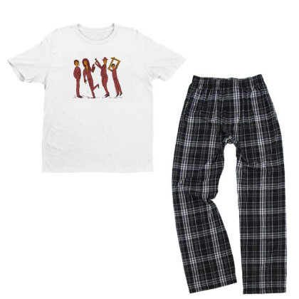 Dancing People Youth T-shirt Pajama Set Designed By Chiks