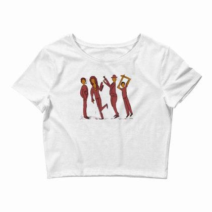 Dancing People Crop Top Designed By Chiks