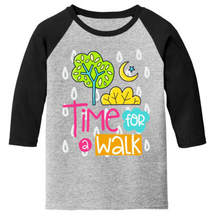 Time For A Walk Youth 3/4 Sleeve Designed By Gnuh79
