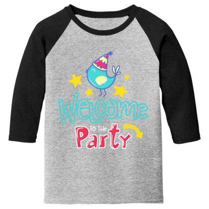 Welcome To The Party Youth 3/4 Sleeve Designed By Gnuh79