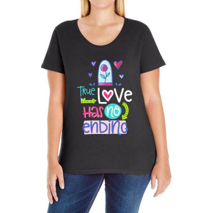 True Love Has No Ending Ladies Curvy T-shirt Designed By Gnuh79