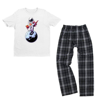 Decentraland Astronaut To The Moon | Mana Crypto Youth T-shirt Pajama Set Designed By Mrt90