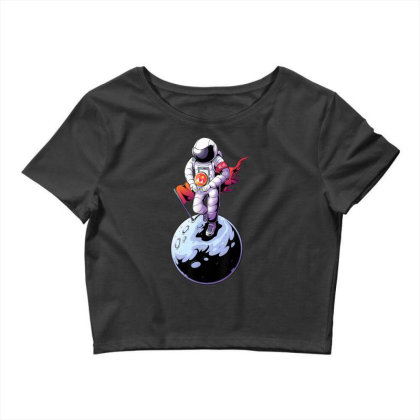 Decentraland Astronaut To The Moon | Mana Crypto Crop Top Designed By Mrt90