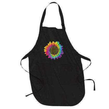 Sunflower Peace Love 60s 70s Hippie Retro Vintage Full-length Apron Designed By Mrt90