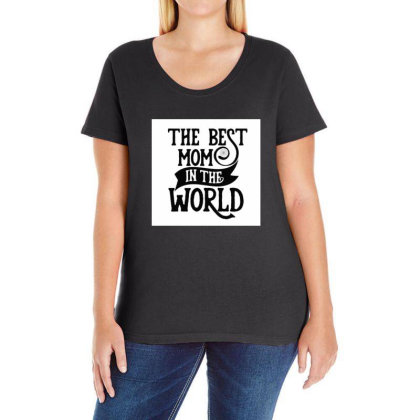The Best Mom In The World Ladies Curvy T-shirt Designed By Şen