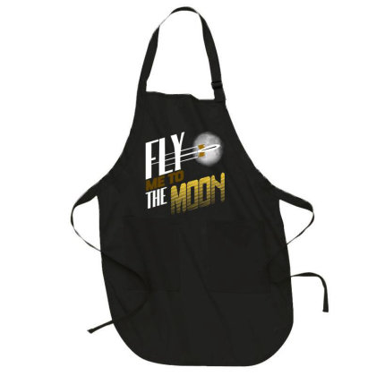 Fly Me To The Moon Full-length Apron Designed By Hatta1976