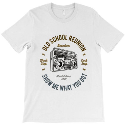 Old School Boombox T-shirt Designed By Hatta1976