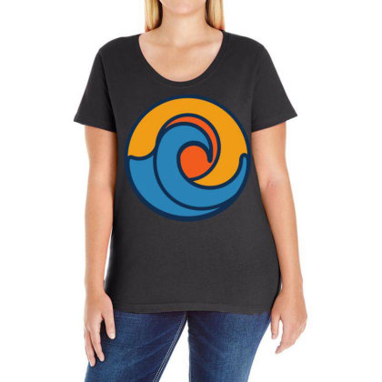 Sunset Love Ladies Curvy T-shirt Designed By Chiks