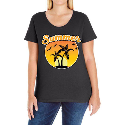 Summer Ladies Curvy T-shirt Designed By Chiks