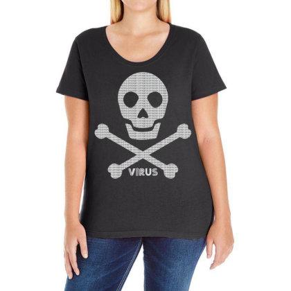 Skull Bones Ladies Curvy T-shirt Designed By Chiks