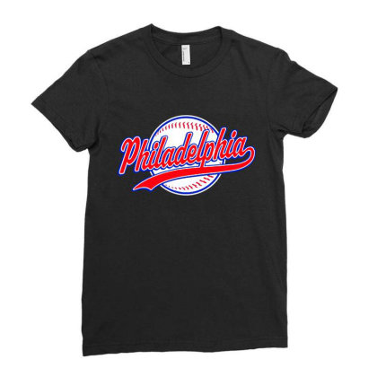 Philadelphia Ladies Fitted T-shirt Designed By Dongdot Apparel