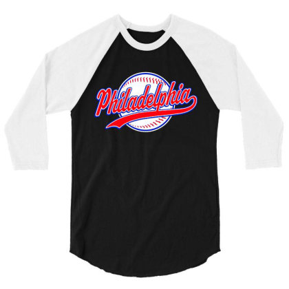 Philadelphia 3/4 Sleeve Shirt Designed By Dongdot Apparel