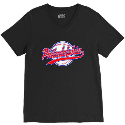 Philadelphia V-neck Tee Designed By Dongdot Apparel
