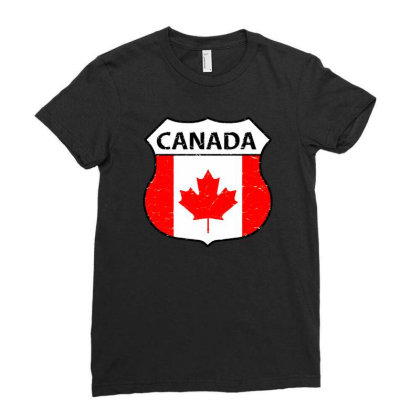 Canadian Ladies Fitted T-shirt Designed By Zig Street