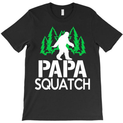 Papa Squat  Gifts For Dad Big.foot Sasquatch T Shirt T-shirt Designed By Time5803