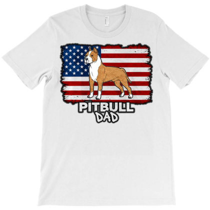 Pit Bull Dad T Shirt T-shirt Designed By Good0396