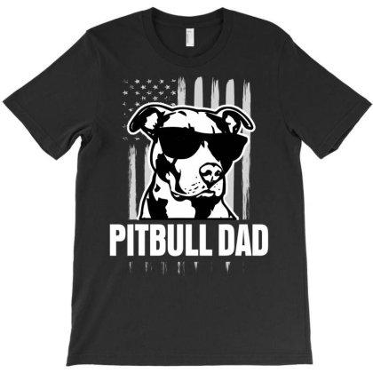Pit.bull Dad Mens Shirt Proud Ameri Pit Bull Dog T Shirt T-shirt Designed By Good0396