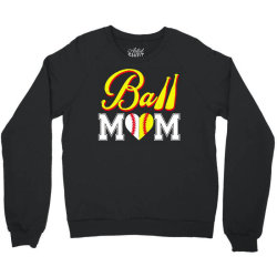 funny ball mom softball baseball Crewneck Sweatshirt   Artistshot