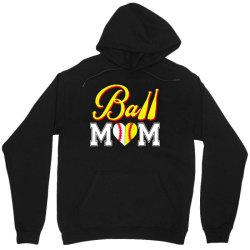 funny ball mom softball baseball Unisex Hoodie   Artistshot