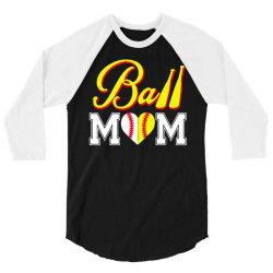 funny ball mom softball baseball 3/4 Sleeve Shirt   Artistshot