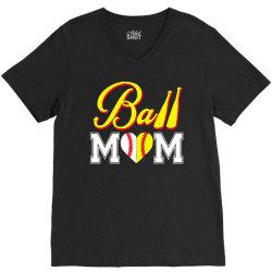 funny ball mom softball baseball V-Neck Tee   Artistshot