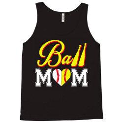funny ball mom softball baseball Tank Top   Artistshot