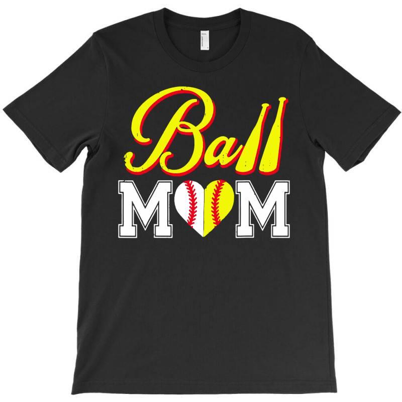 Funny Ball Mom Softball Baseball T-shirt   Artistshot