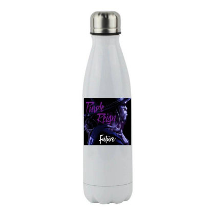 Purple Future Reign Stainless Steel Water Bottle Designed By Princeone
