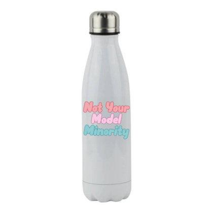 Not Your Model Minority Stainless Steel Water Bottle Designed By Hofmantrs