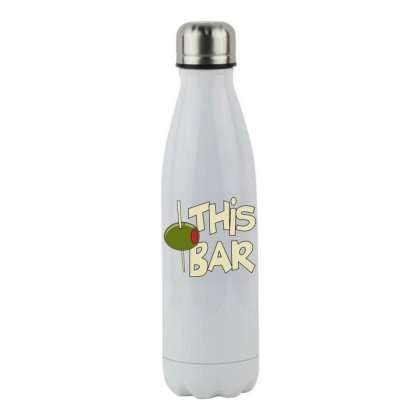 Olive This Bar Stainless Steel Water Bottle Designed By Hofmantrs
