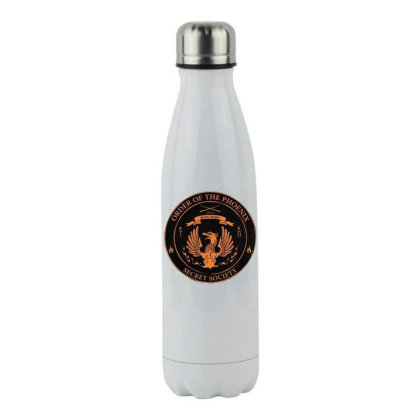 Order Of The Phoenix   Member Shirt Stainless Steel Water Bottle Designed By Hofmantrs