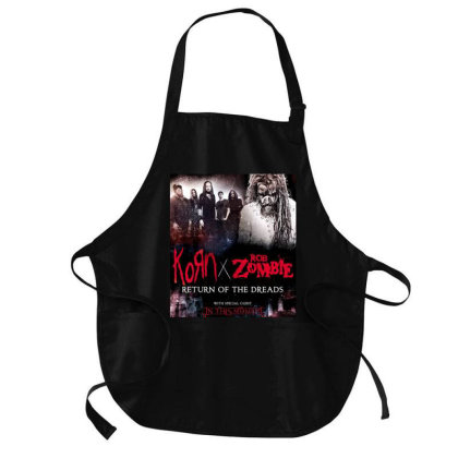 Zombie And The Rob 1r2 Medium-length Apron Designed By Princeone