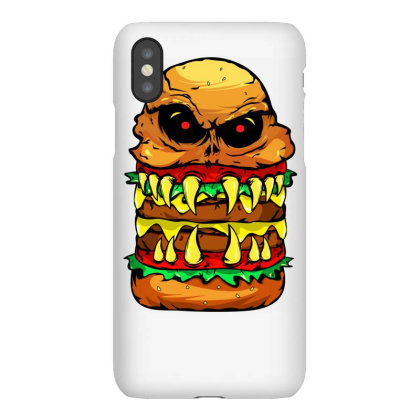 Funny Scary Cheese Burger Iphonex Case Designed By Vnteees