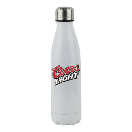 Black And Tan Coors Light Logo Transparent Stainless Steel Water Bottle Designed By Princeone
